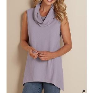 Soft Surroundings Charlie Cowl Neck Tank